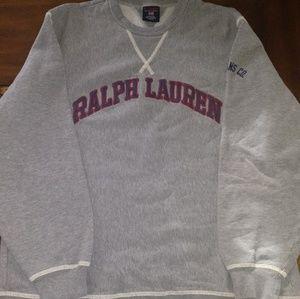 Ralph Lauren Mens Sweater - Grey Sweatshirt Large
